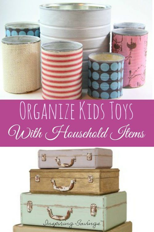 Don't shell out for toy storage! Use one of these inexpensive and common household items that make great toy organizers for your kids playthings. Keep them all in one place