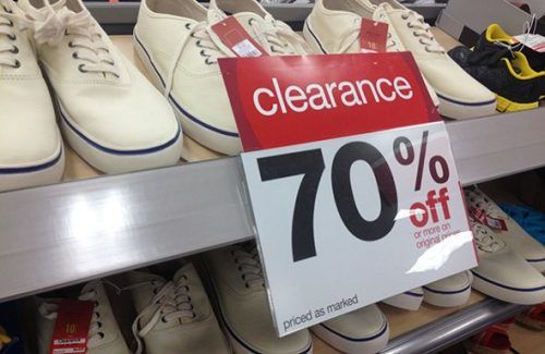 How To Find Target Clearance Bargains - Clearance sign