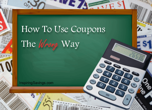 how to use coupons the wrong