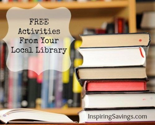 Find free activities from your local library - keep your kids bust during the summer or winter months