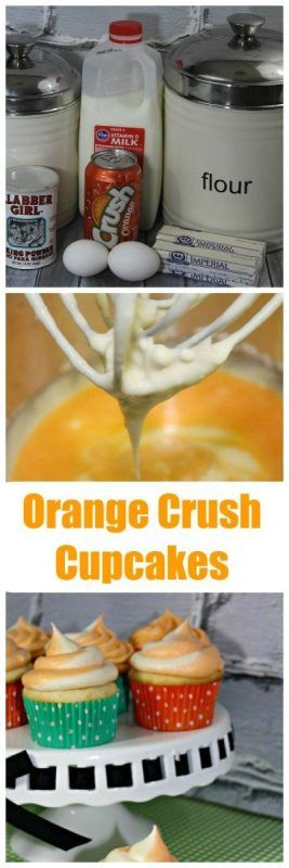 Look at these Amazing Orange Crush Soda Cupcakes. I can't wait to make these for summer