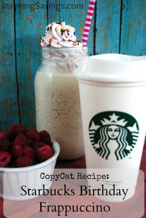 Who doesn't love Starbucks even when it isn't your birthday? Summertime is just around the corner and this Frappuccino recipe couldn't be easier to do.