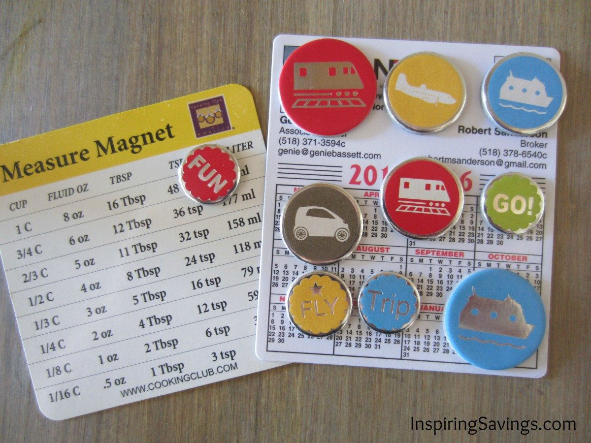 cover magnets with stickers upcylced