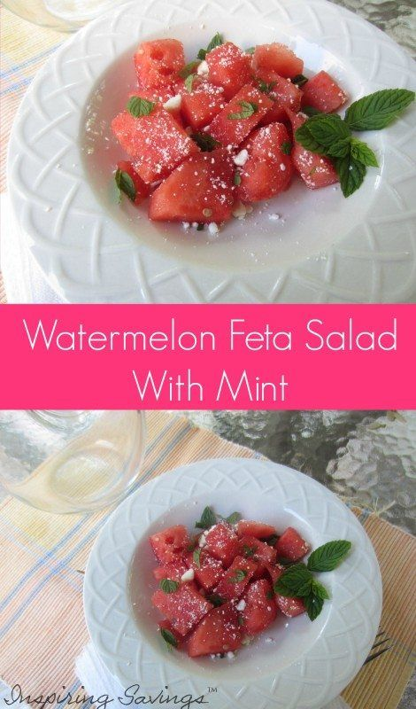 This watermelon feta salad recipe is a combination of juicy watermelon and fragrant cheese - great for a cookout or side dish