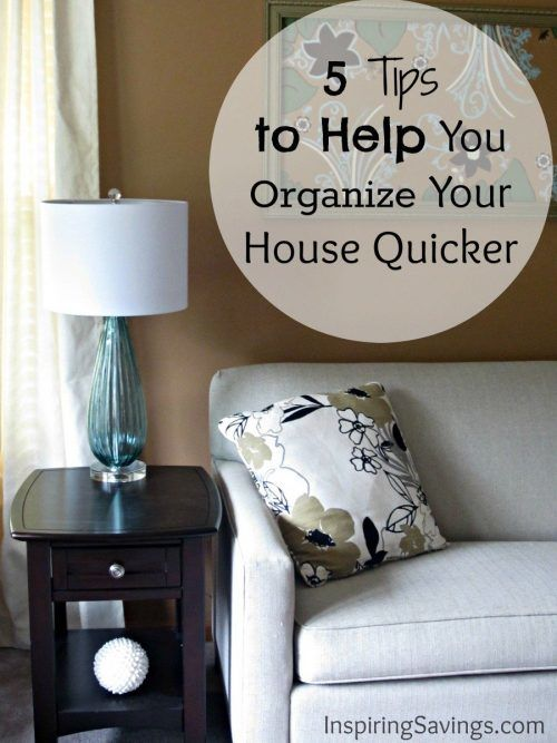 Do not set aside an ENTIRE day to organize your WHOLE house. Learn some Tips to help you organize your house quicker. Tiny changes that make a big impact.