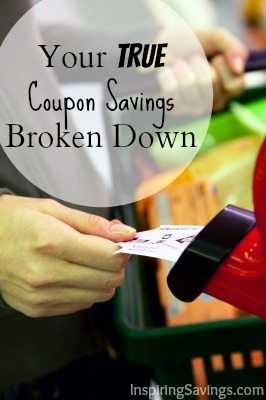 Your true Coupon Savings Broken Down