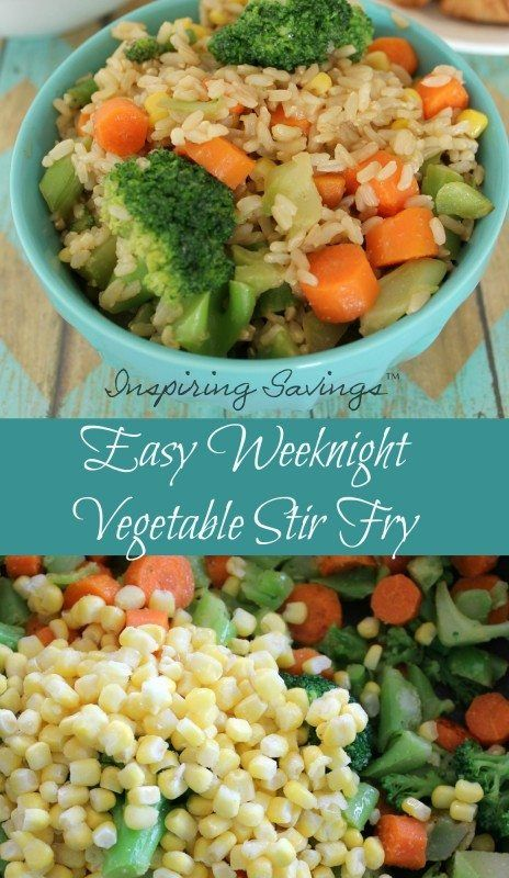 Don't have a lot of time for dinner? Want healthy food and not fast food? This Easy Weeknight Vegetable Stir Fry uses many items you already have on hand.