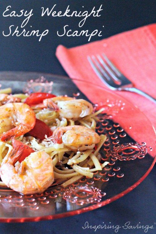 Easy Shrimp Recipe. You will love this simple meal! Just a few easy steps and dish. Made with Garlic, Red Pepper and Pasta.