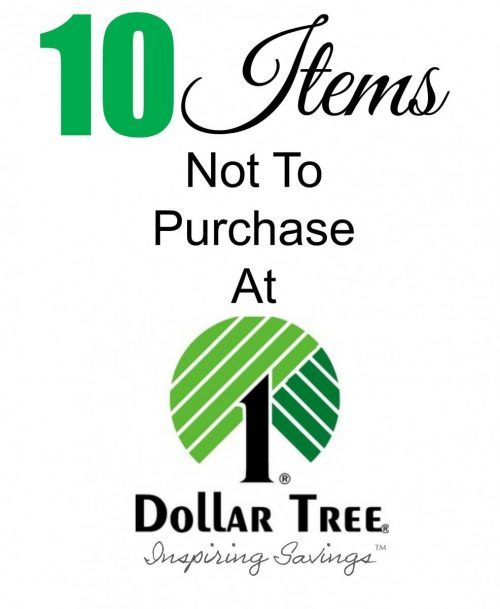 Don't miss our list of 10 Dollar Tree Deals To Avoid! There are some items that aren't as great a deal and we are going to bust that myth so you aren't wasting money!