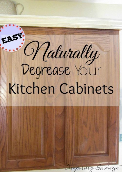 How degrease your kitchen cabinets all naturally for Best cleaner for greasy wood kitchen cabinets