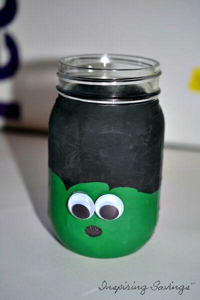 frankenstein Mason Jar - step 7