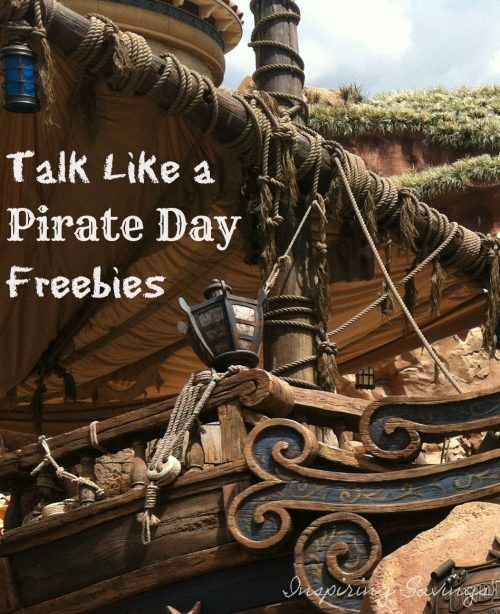 Talk Like a Pirate Day Freebies #Talklikeapirateday