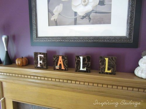 othing Says Fall then crafting up your own word letters to place in your home. Check out these adorable altered wood block letters.