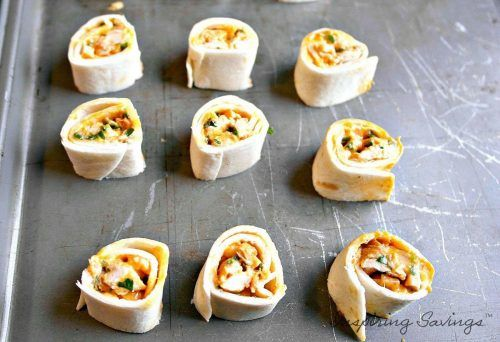 Cheesy Buffalo Chicken Pinwheels Appetizers are a delicious and easy choice that everyone will love. Serve up with extra hot sauce or classic bleu cheese!