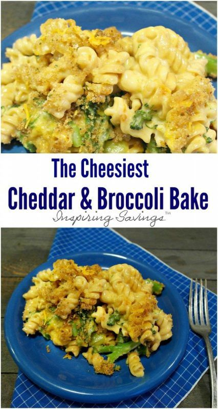 This Cheesy Cheddar Broccoli Bake is a great easy weeknight meal. No cream soups needed or this simple take on a classic recipe!