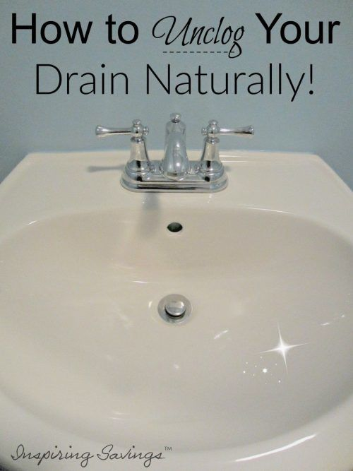 I found it... My drain get clogged with hair all the time. I need a natural way to do it. No chemicals. YES.... Unclog it naturally