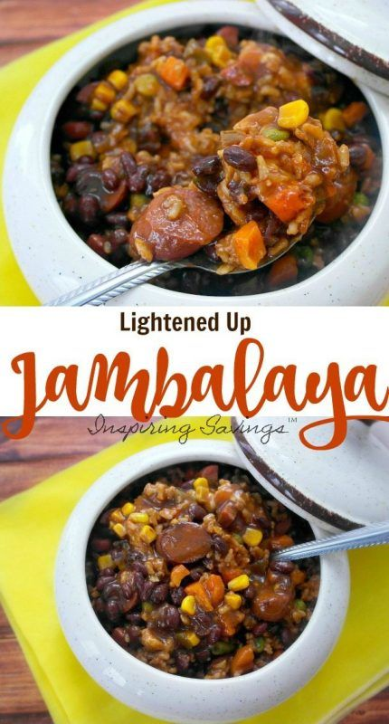 This Healthier Cajun Sausage Jambalaya Recipe is a great choice for a hearty and delicious meal on a budget! Make this for your family in under 30 minutes!
