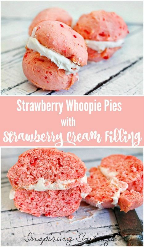 Our Semi-Homemade Strawberry Whoopie Pies Recipe is the perfect sweet treat that takes only minutes to prepare! Everyone will love this easy dessert recipe!