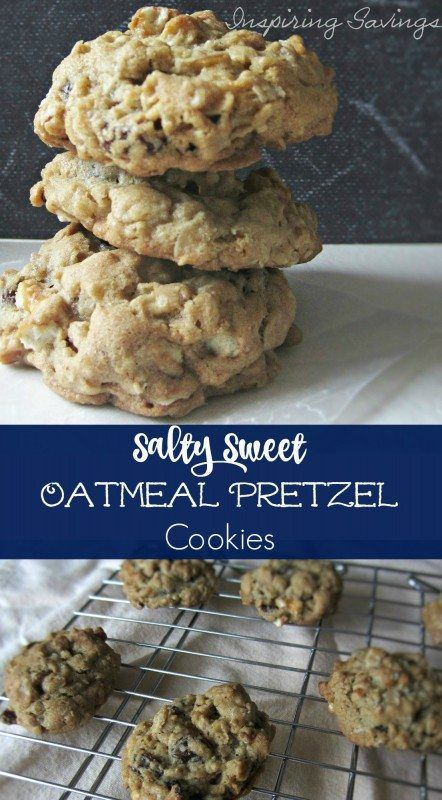 Do you like the taste of salty & sweet together You will enjoy these oatmeal Pretzel cookies that use some pretzels to balance the taste. Get the recipe
