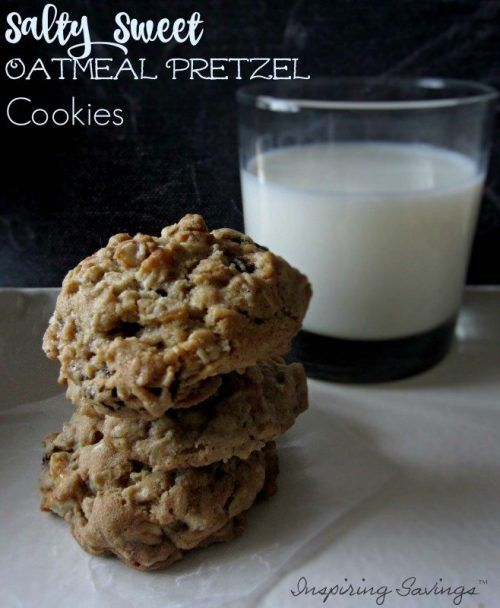 Do you like the taste of Salty & sweet together You will enjoy these oatmeal cookies that use some pretzels to balance the taste