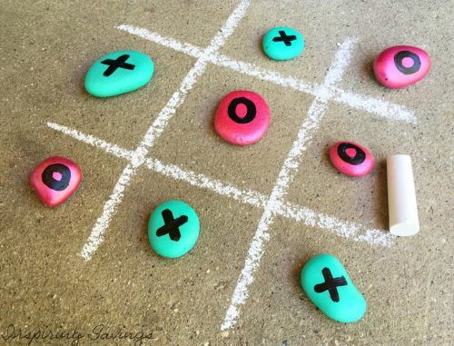 Finish Rock Tic Tac Toe Game Set