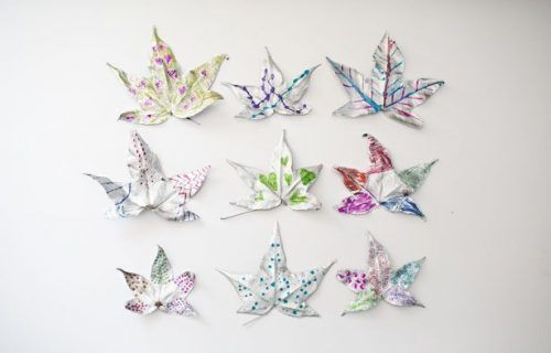 Creative silver leaves craft