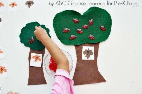have your kids count leaves in this fun craft