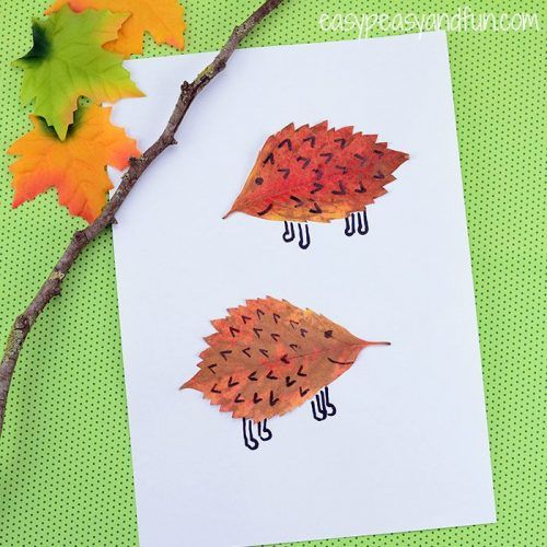 creaftive Leaf-Hedgehogs-Craft-for-Kids
