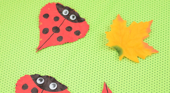 creative ladybug crafts from leaves