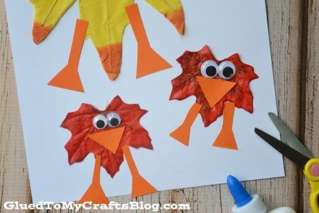 leaves turned into creative owls
