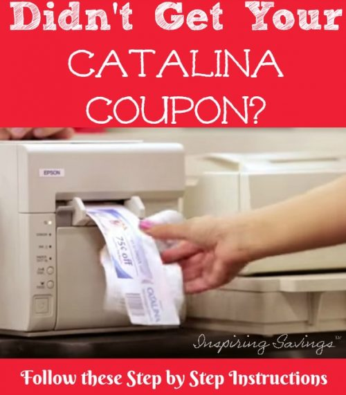 Catalina Coupons Did Not Print? It happens to the best of us. We plan out our shopping list, clip your coupons, and shop. See these step by step instructions and learn how to get back the money you earned.
